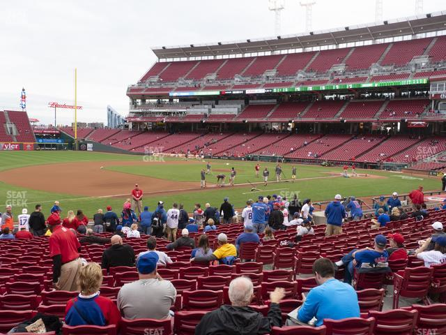 Great American Ball Park Section 114 view