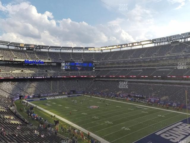 MetLife Stadium Section 207 A view