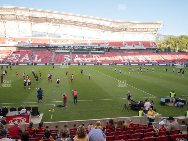 Rio Tinto Stadium Section 20 view