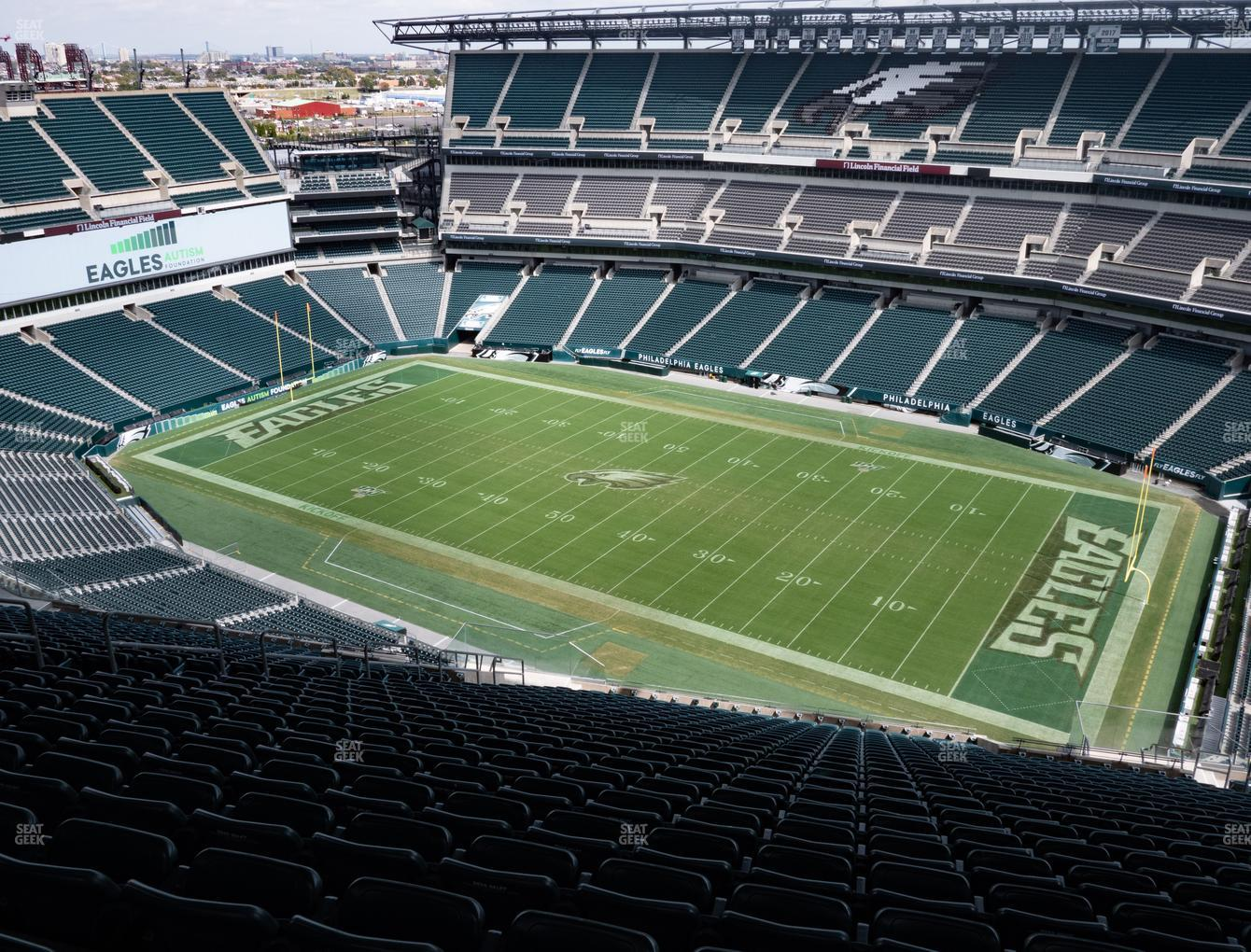 Philadelphia Eagles at Lincoln Financial Field Section 205 View