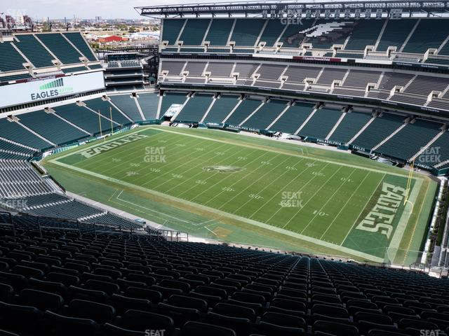 Lincoln Financial Field Section 205 view