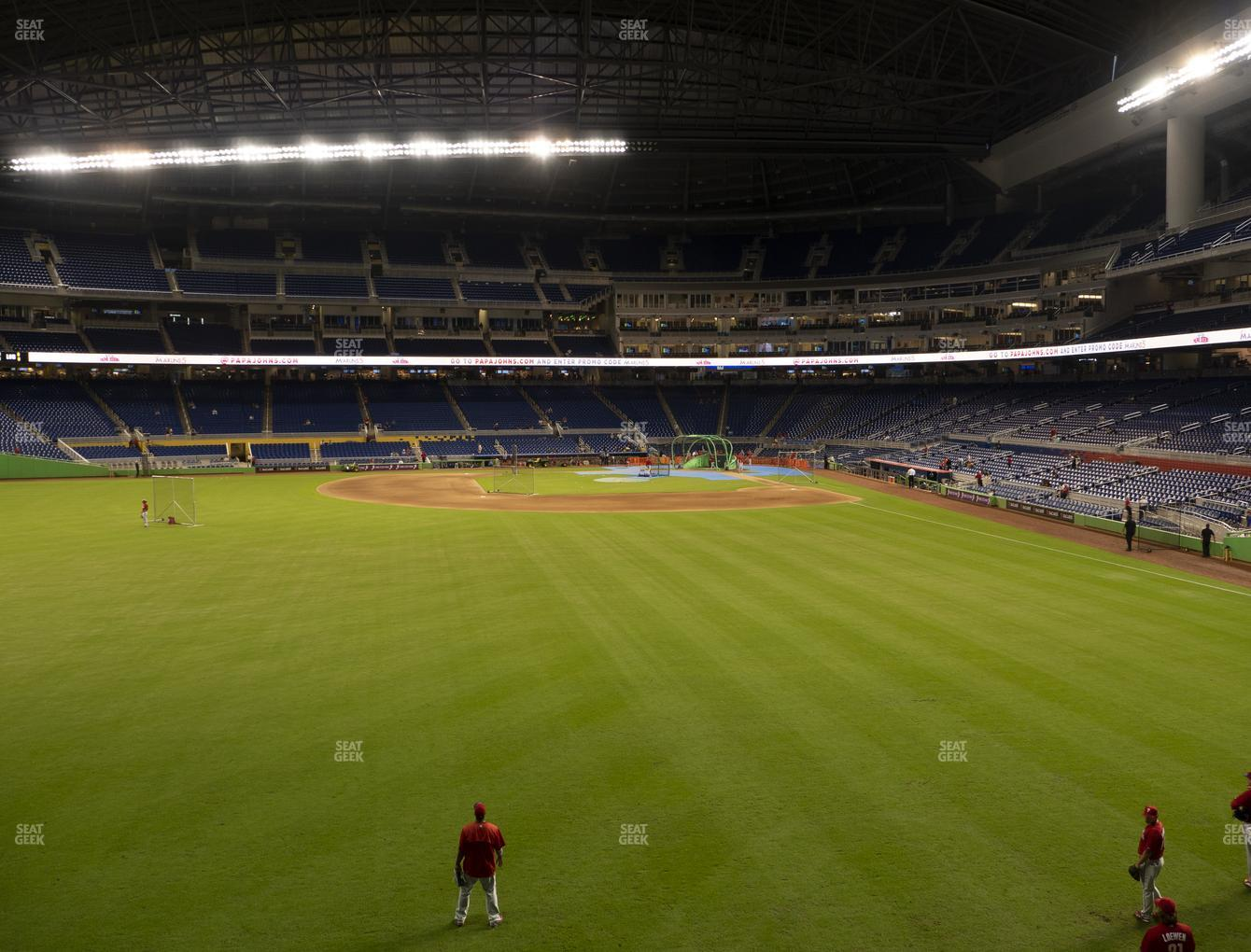 Miami Marlins at Marlins Park Section 32 View