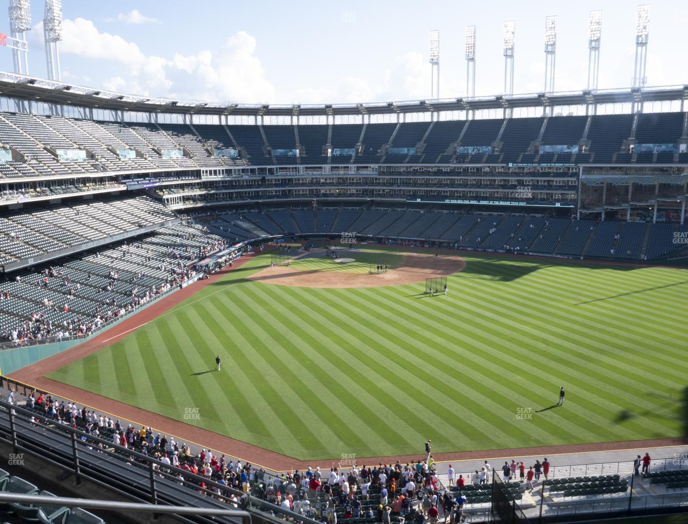 Cleveland Indians at Progressive Field Section 403 View