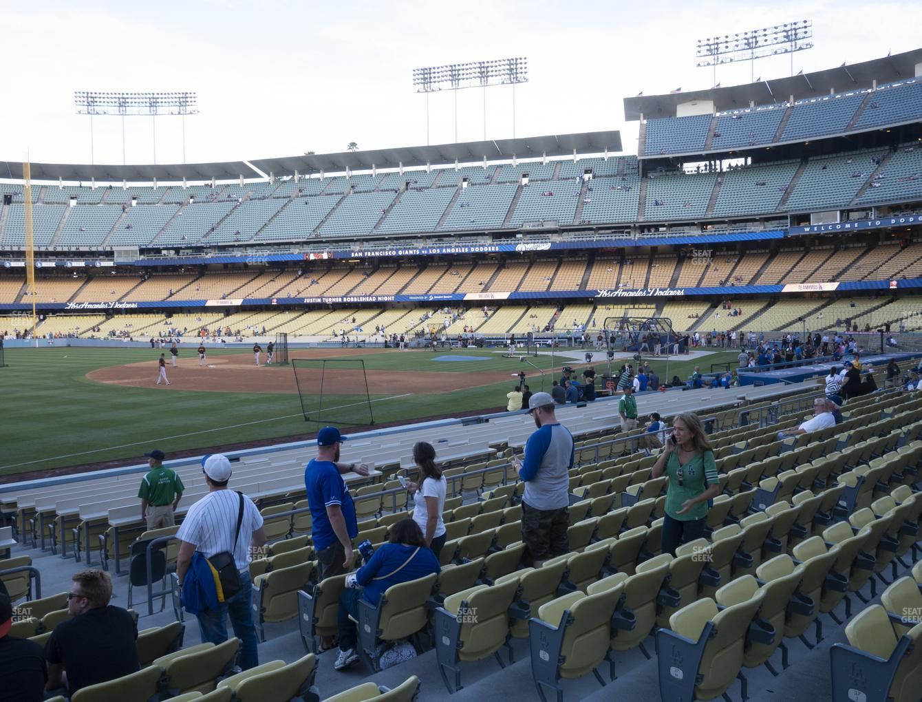 Los Angeles Dodgers at Dodger Stadium Field Box 39 View