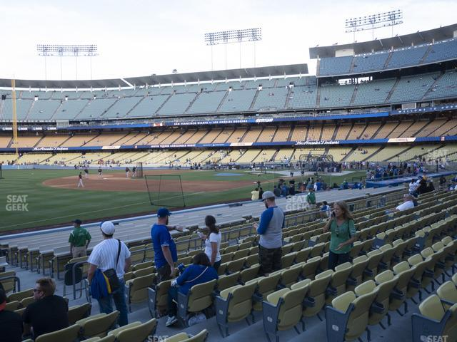 Dodger Stadium Field Box 39 view
