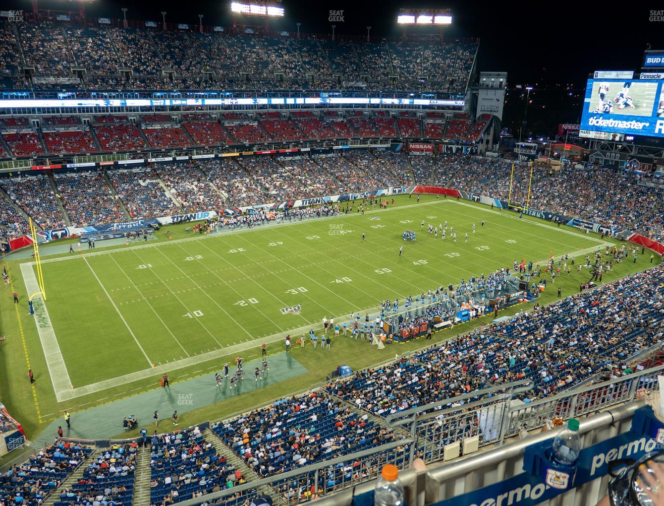 Tennessee Titans at Nissan Stadium Section 339 View