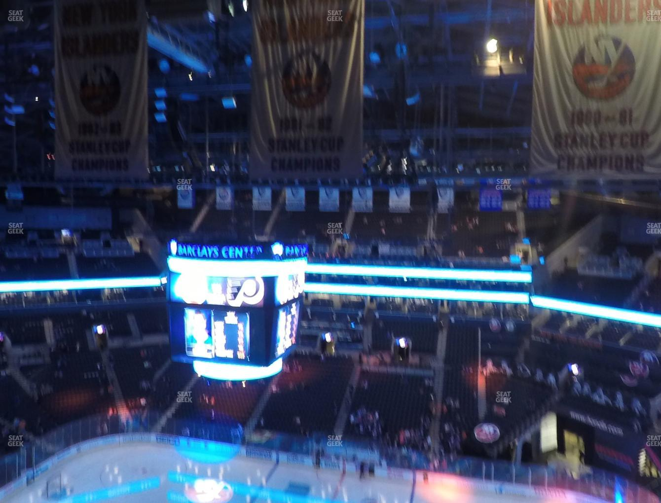 New York Islanders at Barclays Center Section 206 View