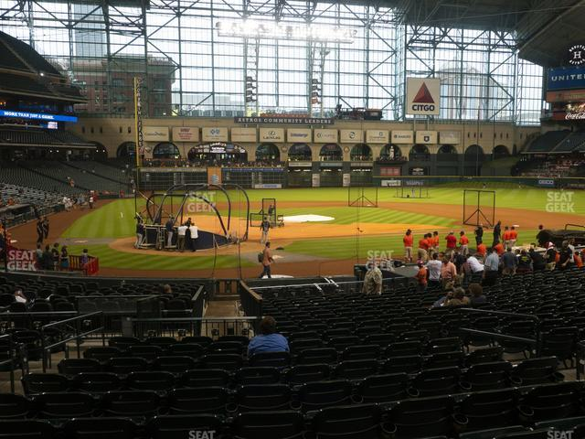 Minute Maid Park Section 122 view