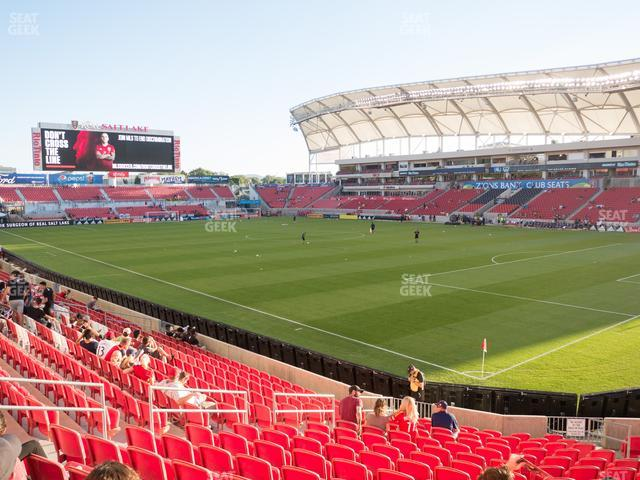 Rio Tinto Stadium Section 33 view
