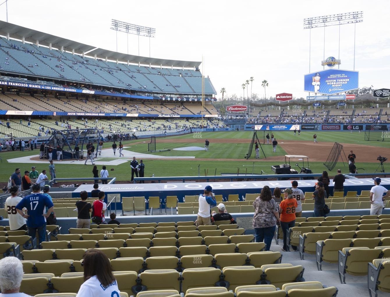 Los Angeles Dodgers at Dodger Stadium Field Box 18 View