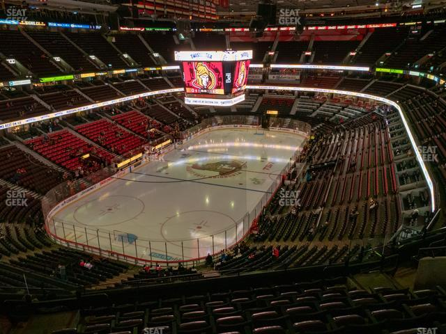Canadian Tire Centre Section 327 view