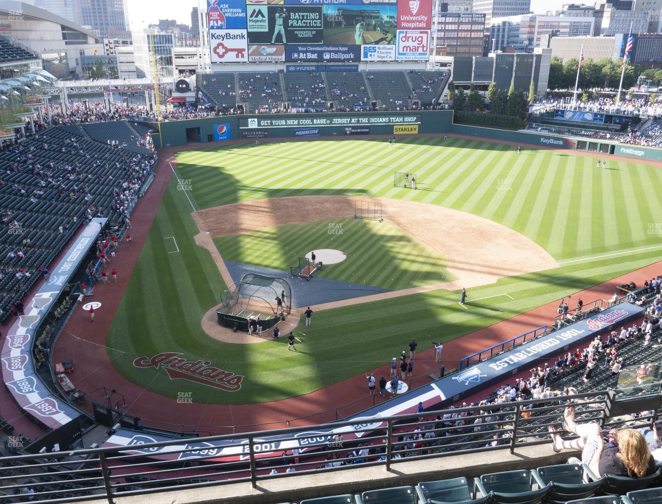 Cleveland Indians at Progressive Field Section 451 View