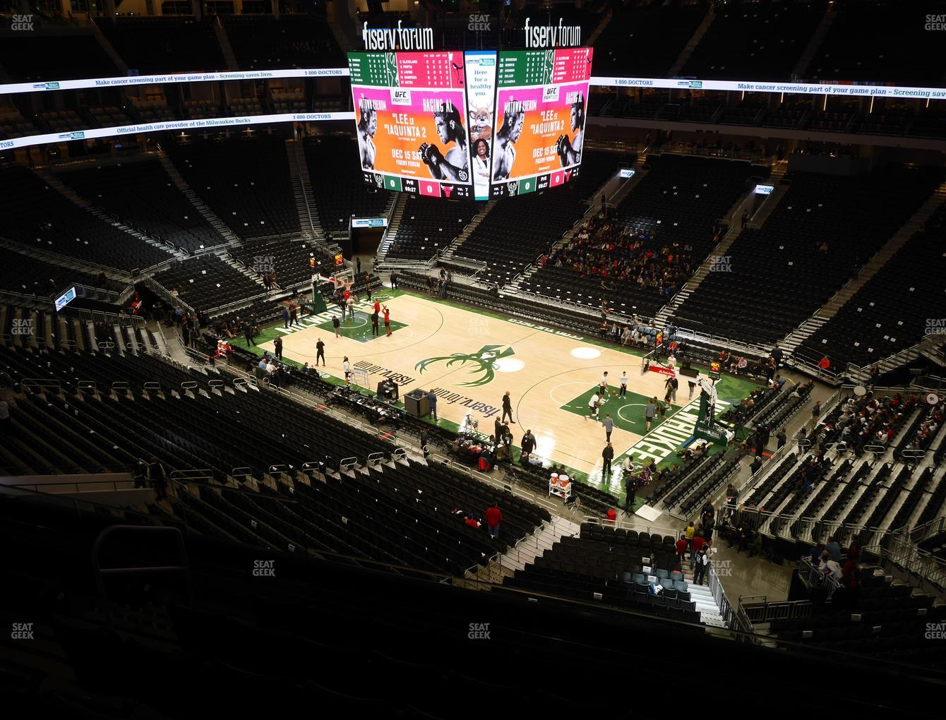 Milwaukee Bucks at Fiserv Forum Section 219 View
