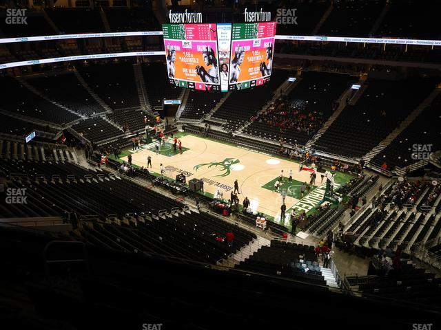 Fiserv Forum Section 219 view