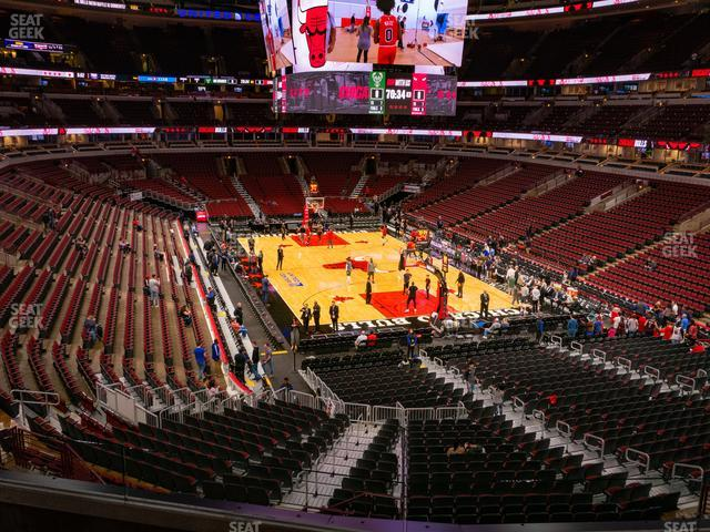 United Center Section 211 view