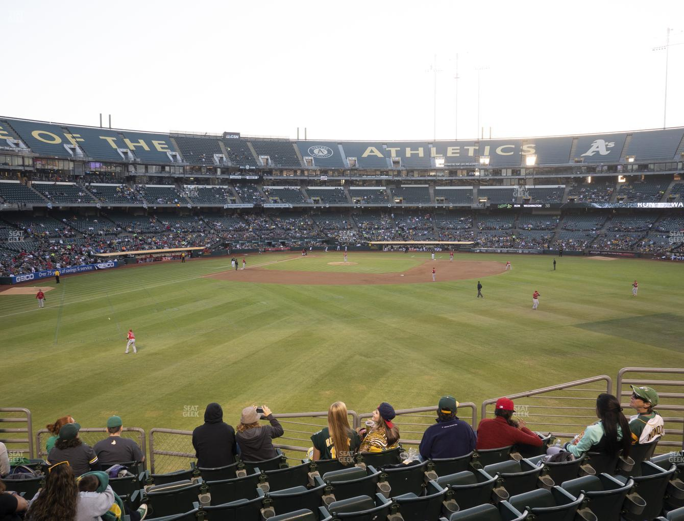 Oakland Athletics at RingCentral Coliseum Section 147 View