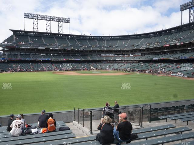 Oracle Park Bleachers 140 view