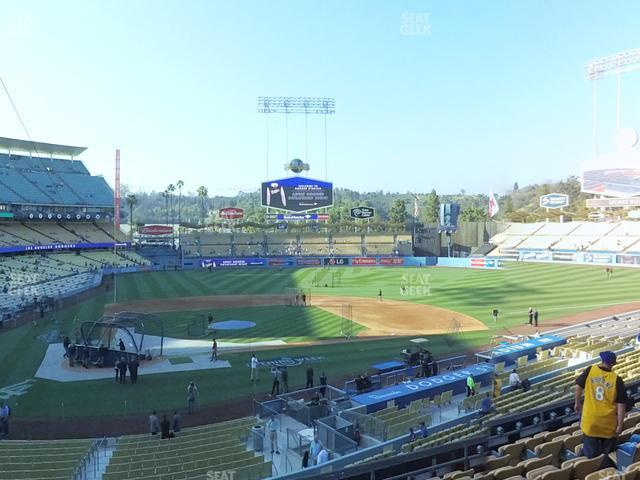 Dodger Stadium Loge Box 120 view