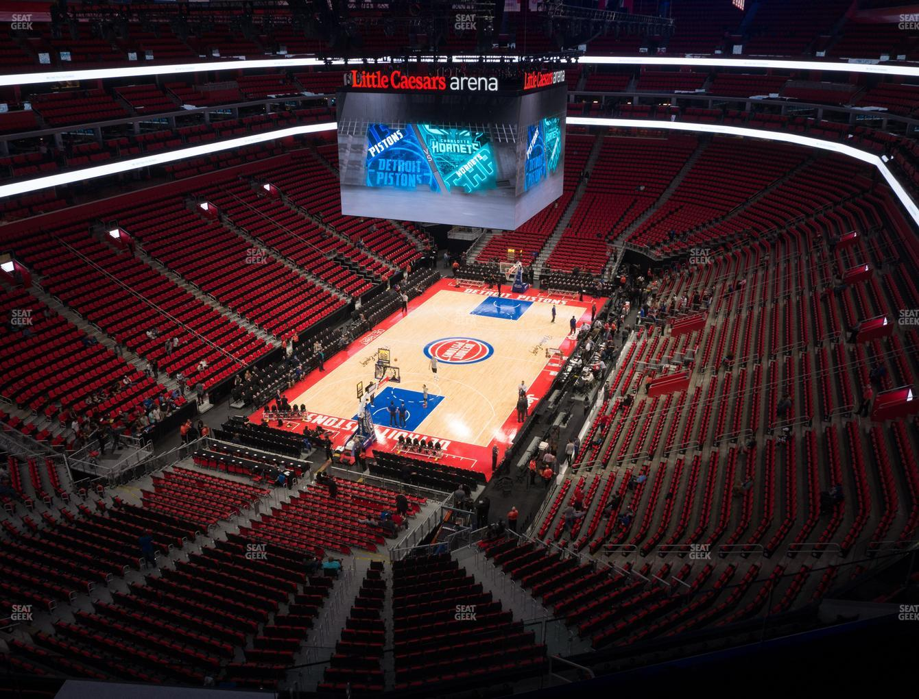 Detroit Pistons at Little Caesars Arena Section 232 View