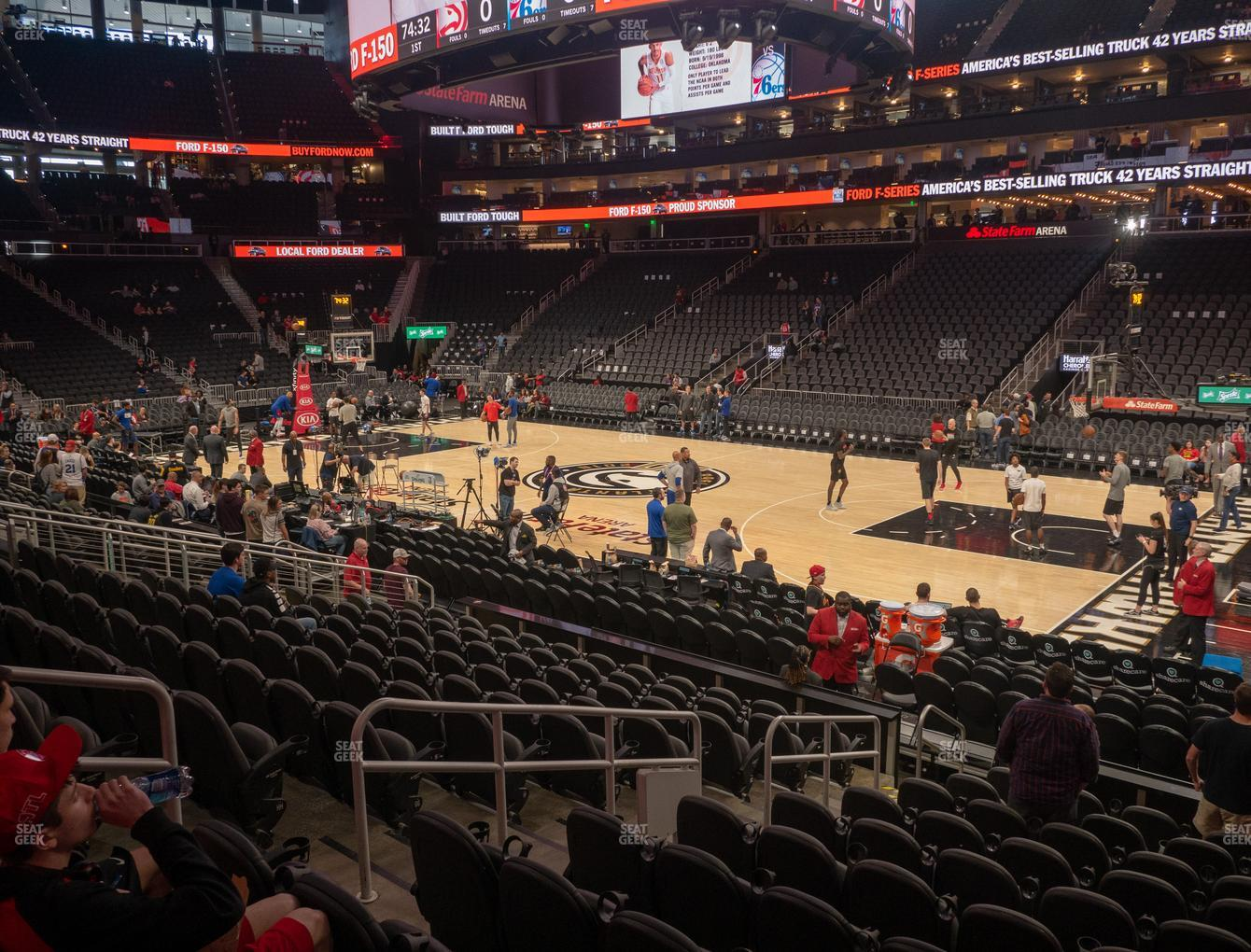 Atlanta Hawks at State Farm Arena Section 117 View