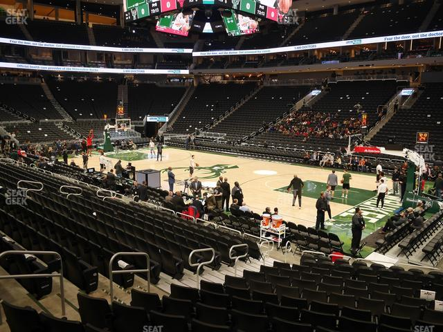 Fiserv Forum Section 115 view