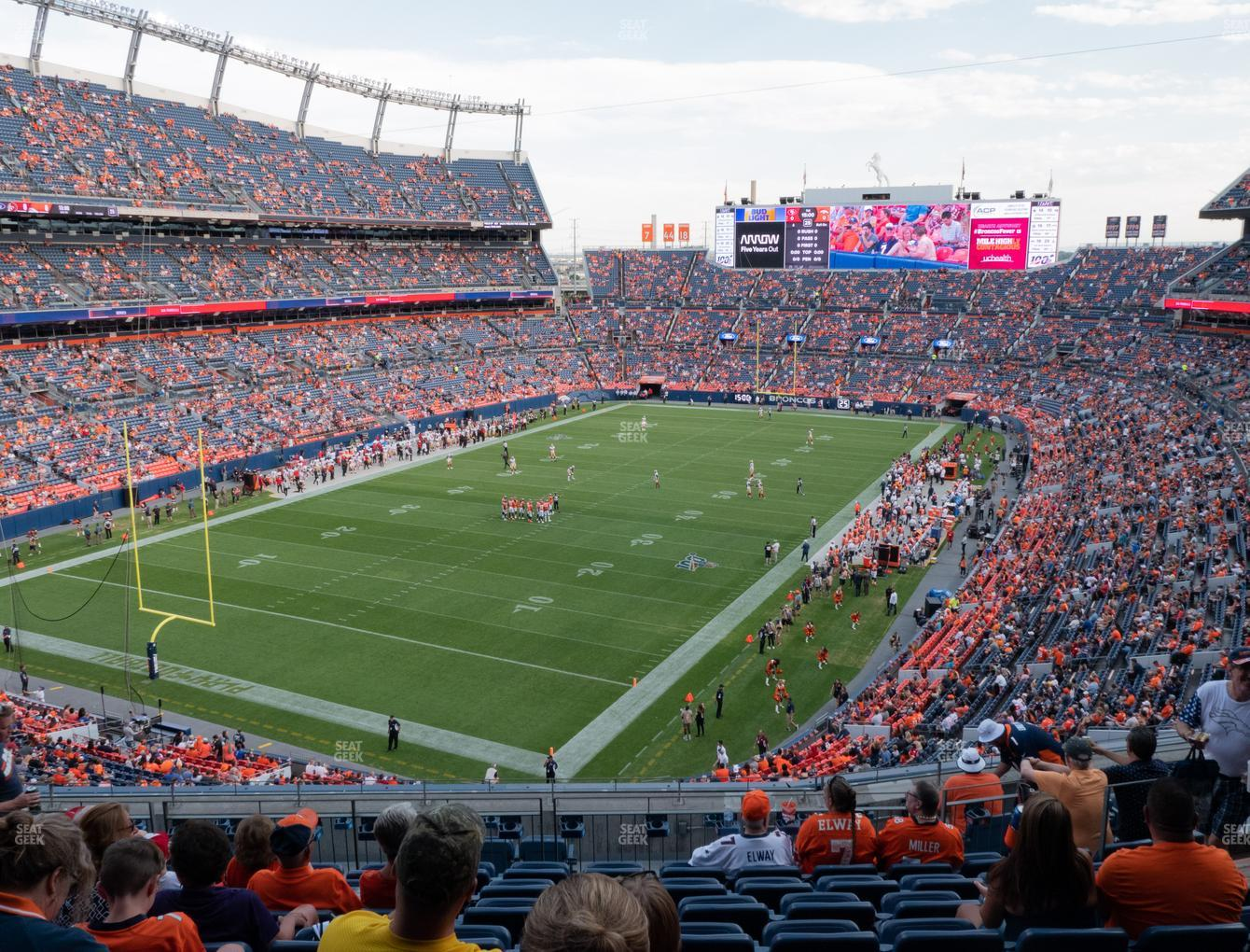 Denver Broncos at Empower FIeld at Mile High Section 319 View