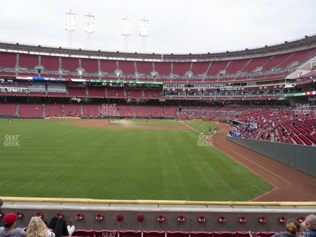 Great American Ball Park Section 105 view