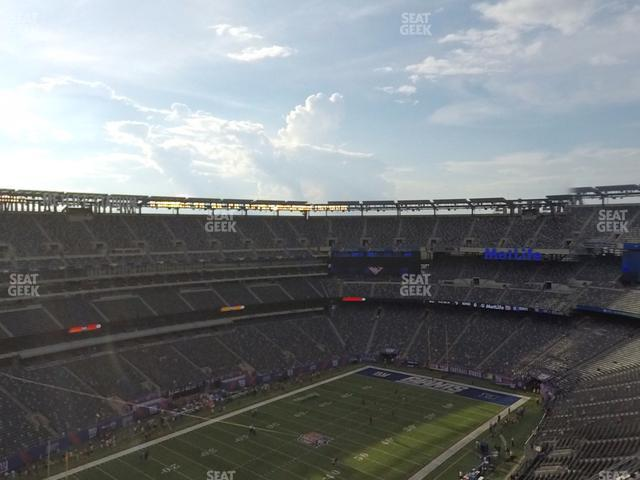 MetLife Stadium Section 320 view