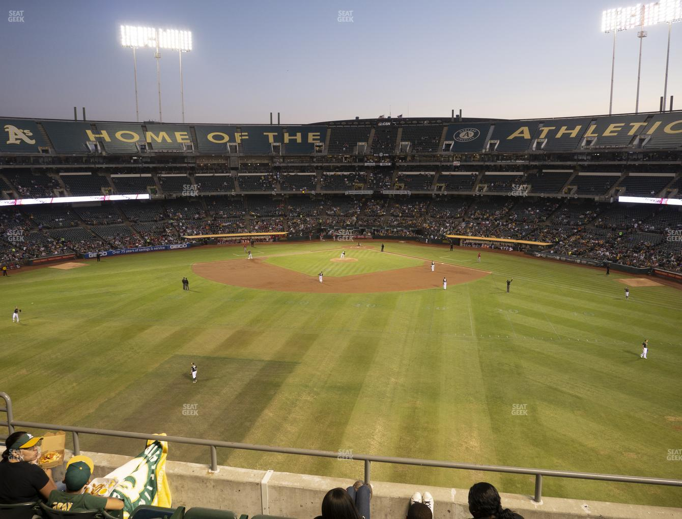 Oakland Athletics at Oakland-Alameda County Coliseum Section 240 View
