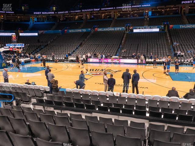 Chesapeake Energy Arena Section 105 view