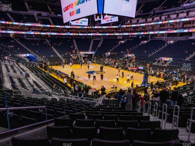 Chase Center Section 124 view