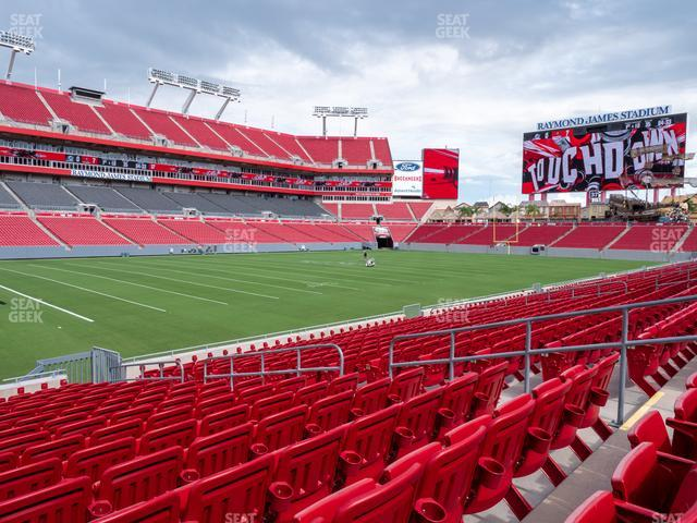 Raymond James Stadium Section 132 view