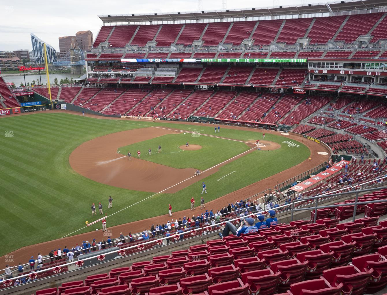 Cincinnati Reds at Great American Ball Park Section 413 View
