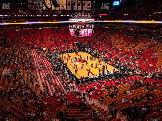 American Airlines Arena Section 303 view