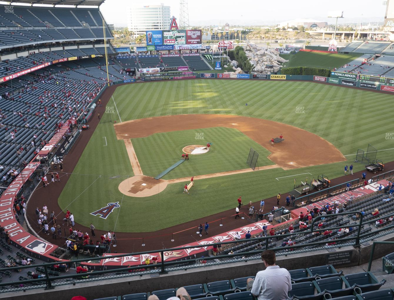 Los Angeles Angels at Angel Stadium of Anaheim Section 422 View