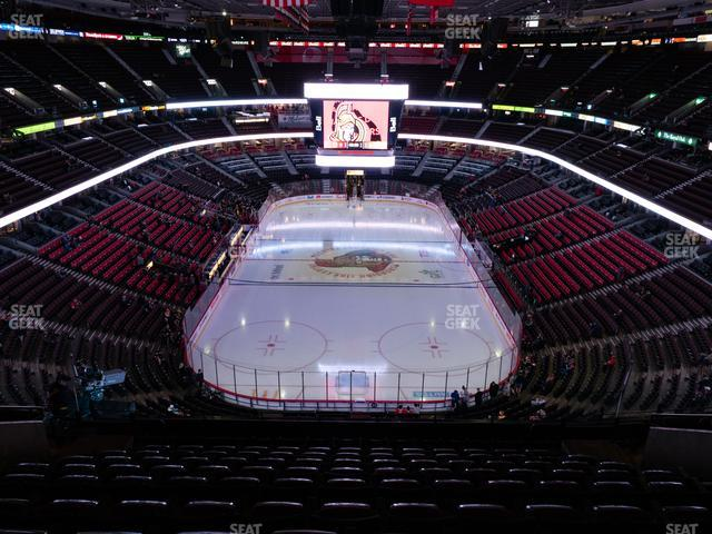Canadian Tire Centre Section 301 view