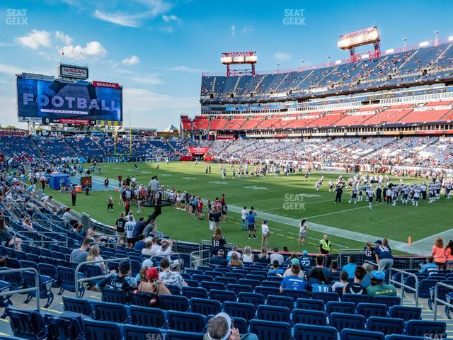 Nissan Stadium Section 129 view