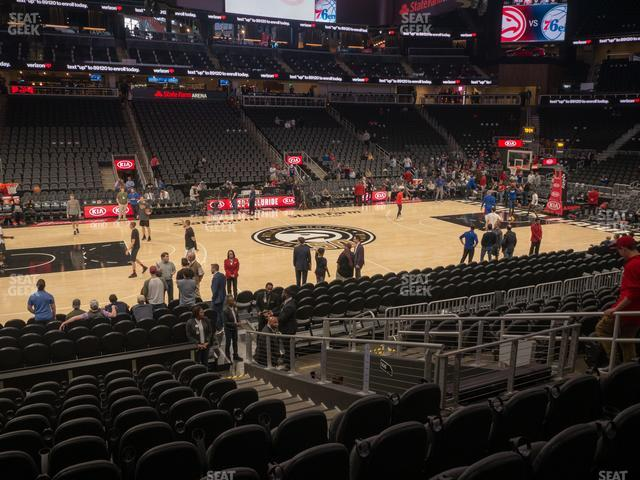 State Farm Arena Section 109 view