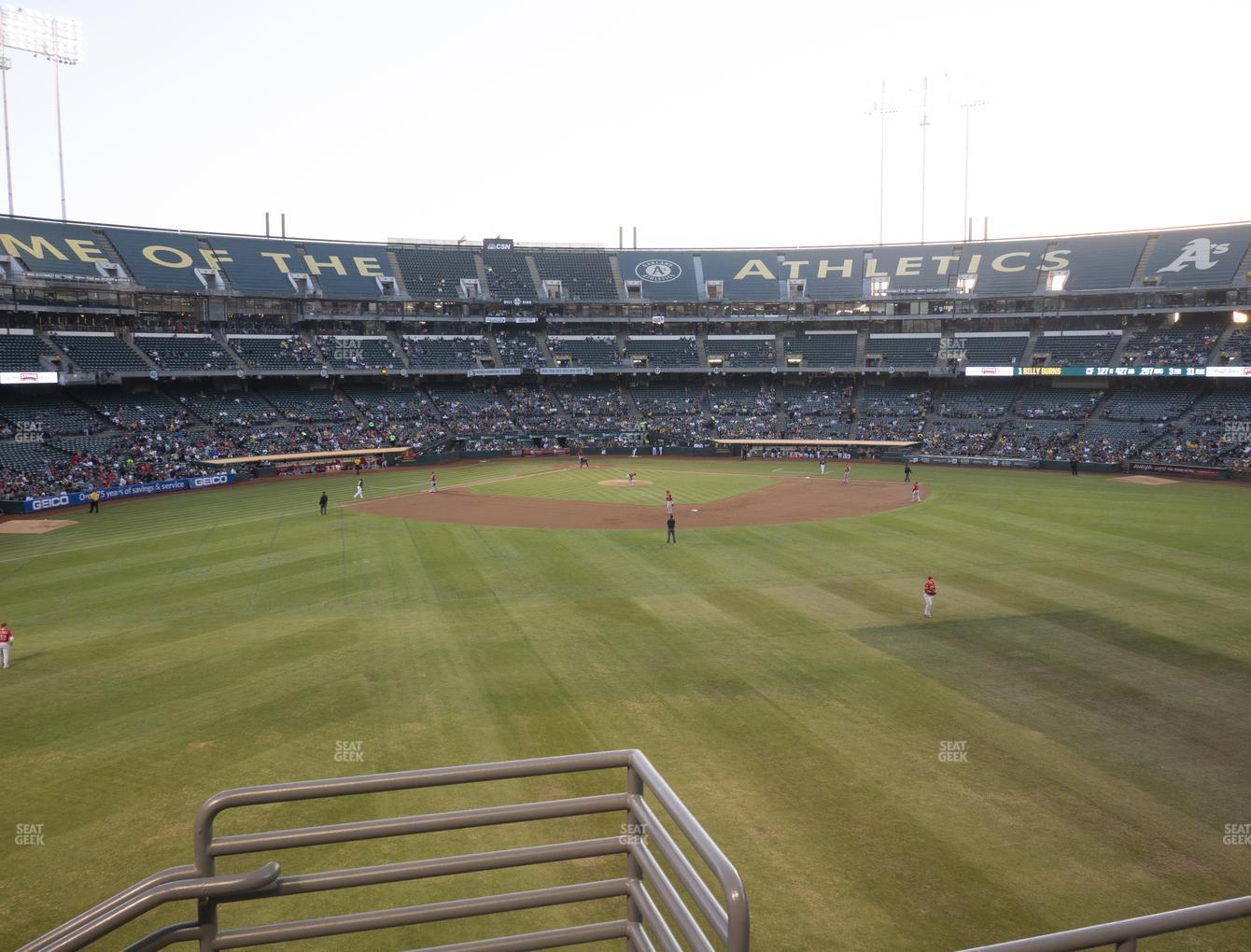 Oakland Athletics at Oakland-Alameda County Coliseum Section 145 View