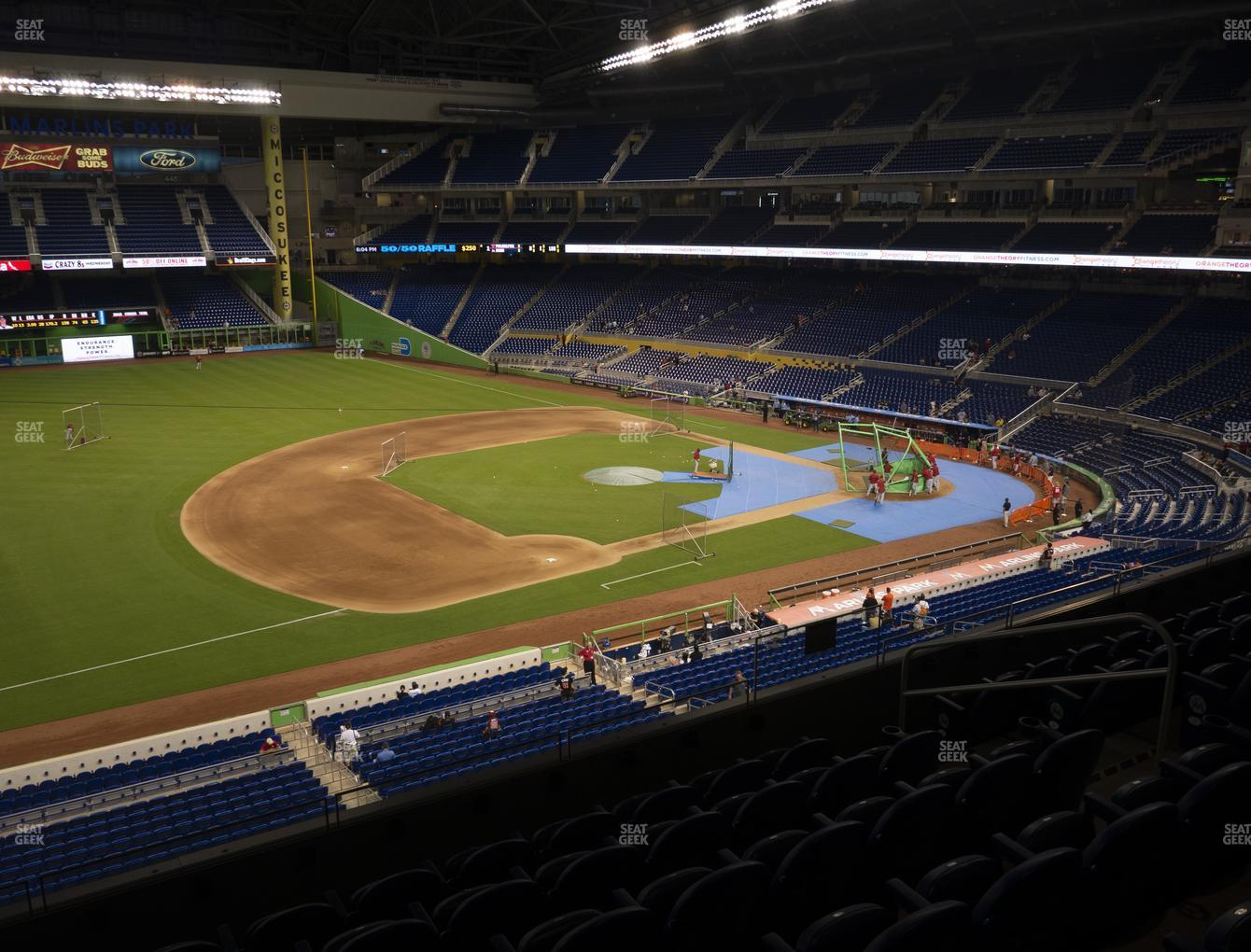 Miami Marlins at Marlins Park Section 223 View