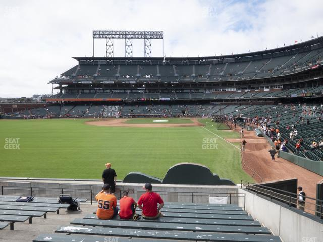 Oracle Park Bleachers 136 view