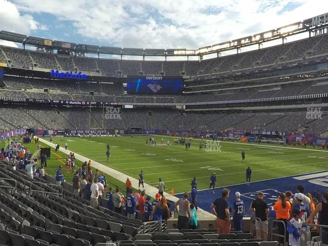 MetLife Stadium Section 106 view