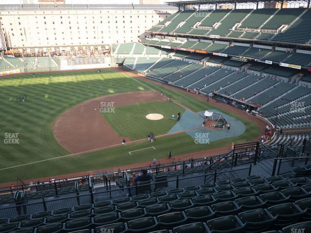 Oriole Park at Camden Yards Section 354 view