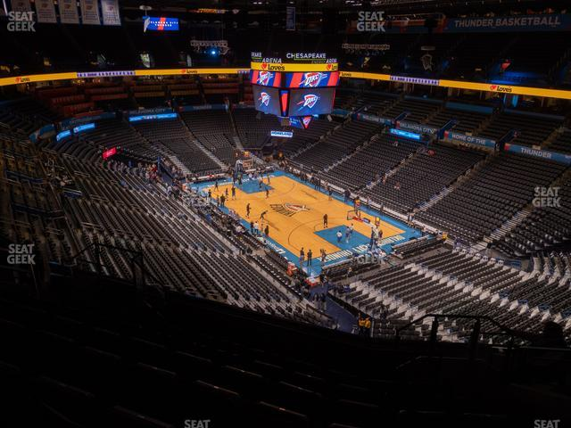 Chesapeake Energy Arena Section 319 view