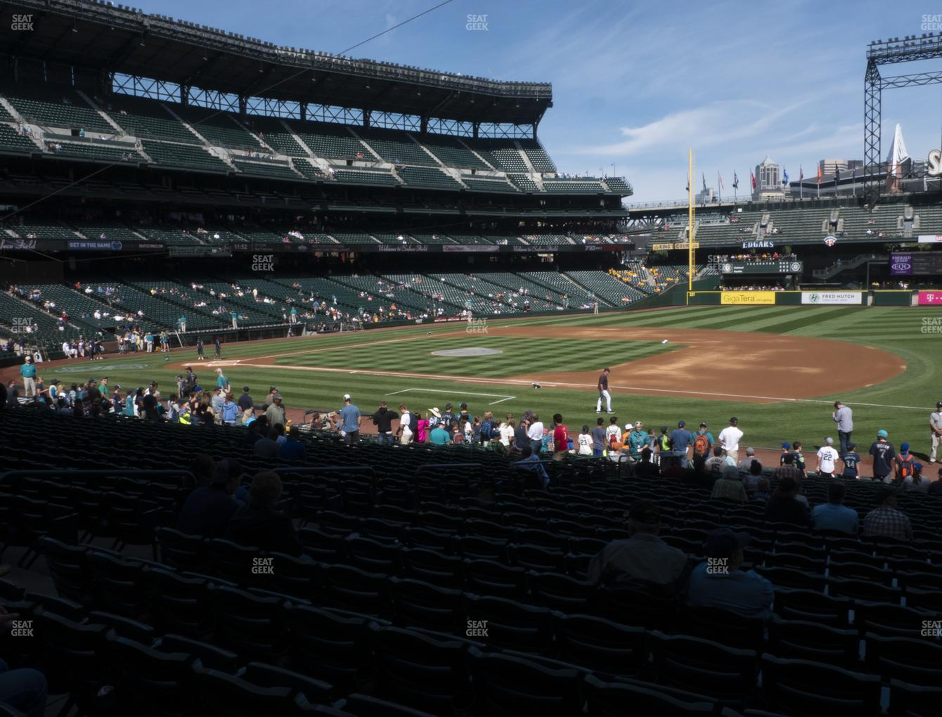 Seattle Mariners at T-Mobile Park Section 119 View
