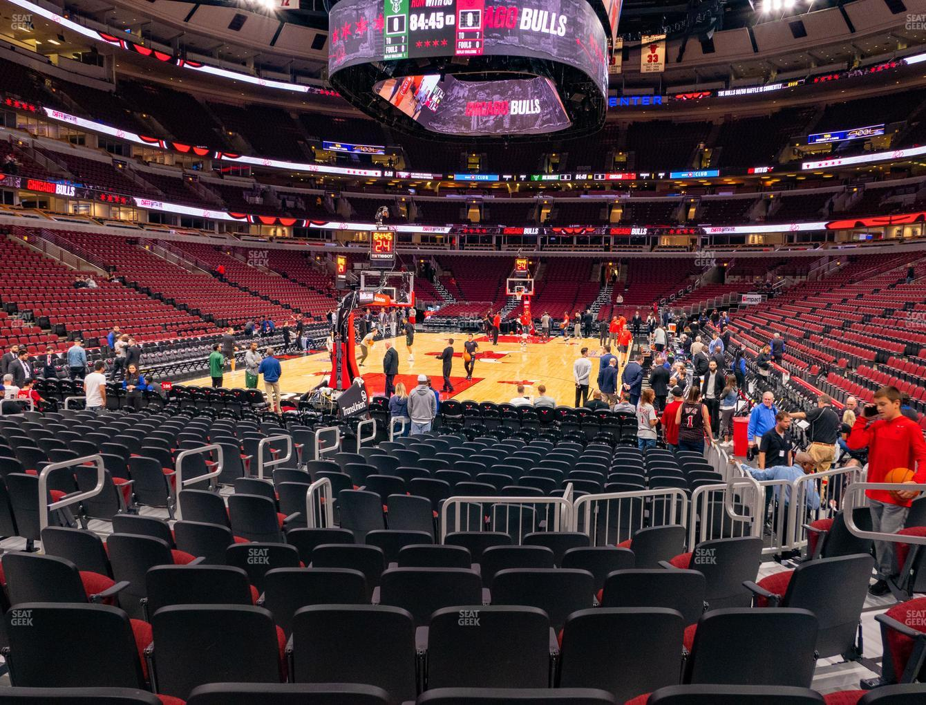 Chicago Bulls at United Center Section 105 View