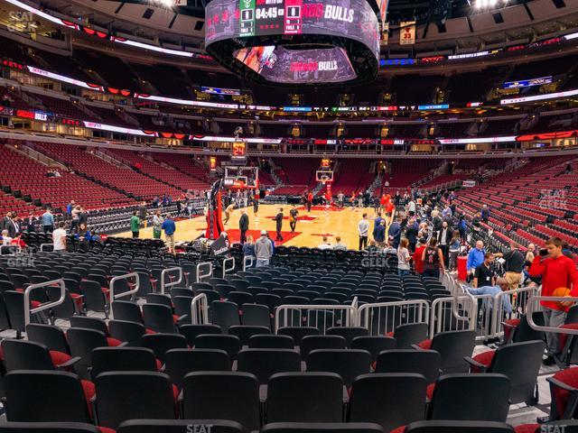 United Center Section 105 view