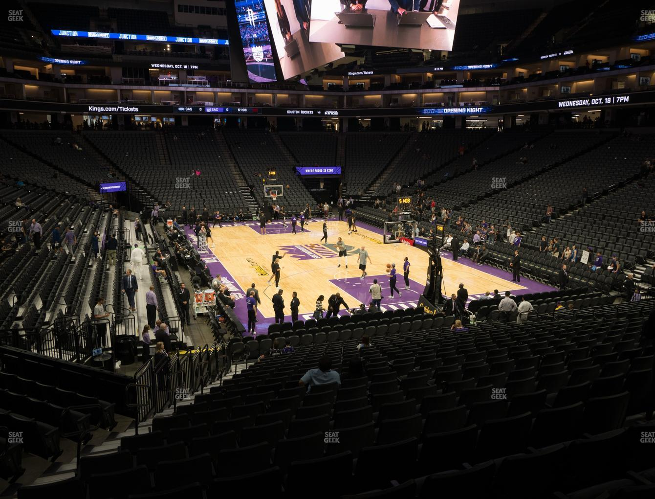 Sacramento Kings at Golden 1 Center Section 102 View