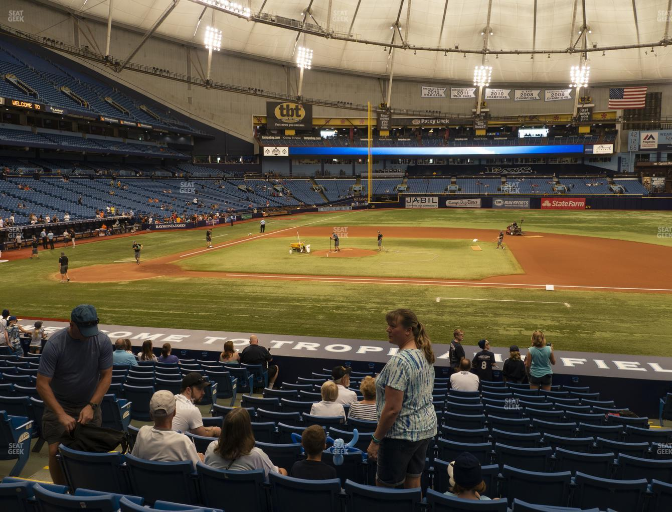 Tampa Bay Rays at Tropicana Field Section 116 View