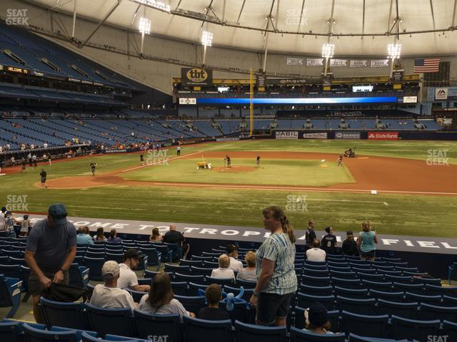 Tropicana Field Section 116 view